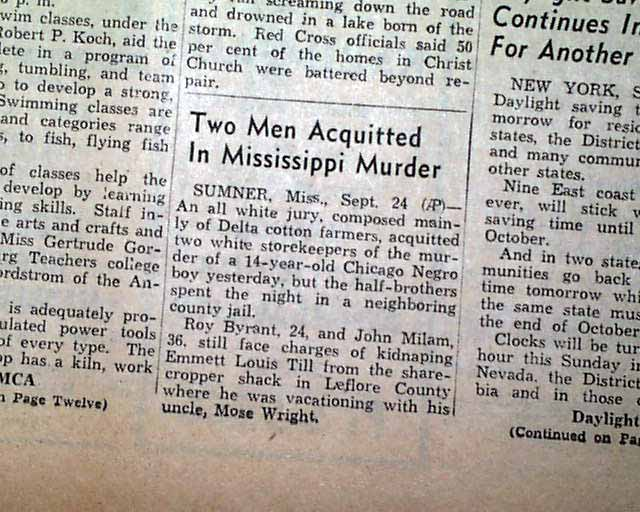 Book report on mississippi trial 1955