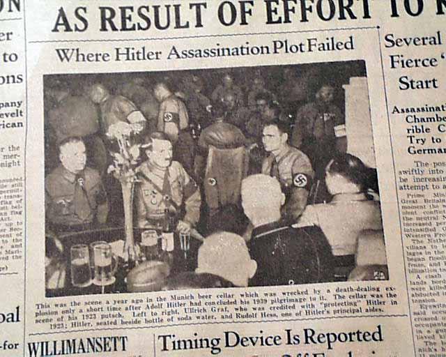 Adolph Hitler assassination attempt...