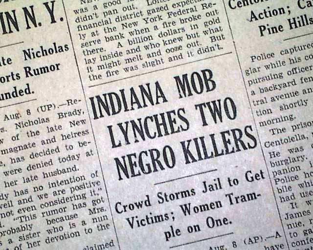 lynching 1930 A history of violence this site brings to light the terrible history of lynching violence in the state of georgia circa 1875-1930 through a analysis of the newspaper articles reporting on these crimes, scholars have been attempting to express the complex network of relationships between actors and classify the types of interactions expressed .