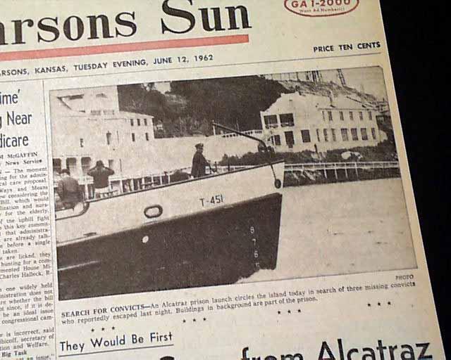 Escapes From Alcatraz Prison