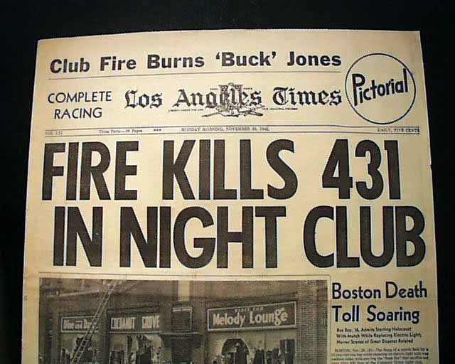 """cocoanut grove examining an american tragedy A summary of the boston metropolitan chapter of the american red cross in the cocoanut grove fire on moulton, rs """"the cocoanut grove fire tragedy."""