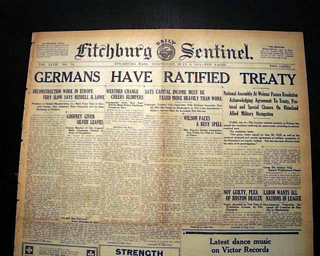 united states not ratify the treaty of versailles The treaty, therefore, ensured the rise of adolf hitler and the nazi party moreover, the us senate's refusal to ratify the treaty caused the collective security organization, the league of nations, to fail because the united states was not a member.