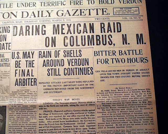 the details about the infamous pancho villa raid in columbus mexico in 1916 Video documenting pancho villa and the us invasion of mexico in 1916 the hunt for pancho villa: the columbus raid and heroes ended up becoming infamous and.
