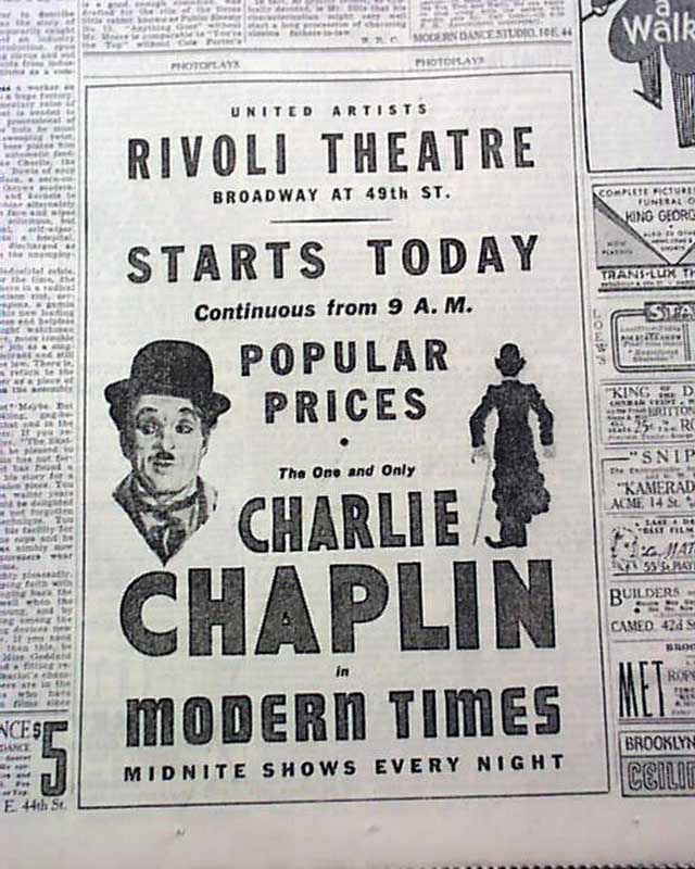 Summary of modern times 1936 charlie