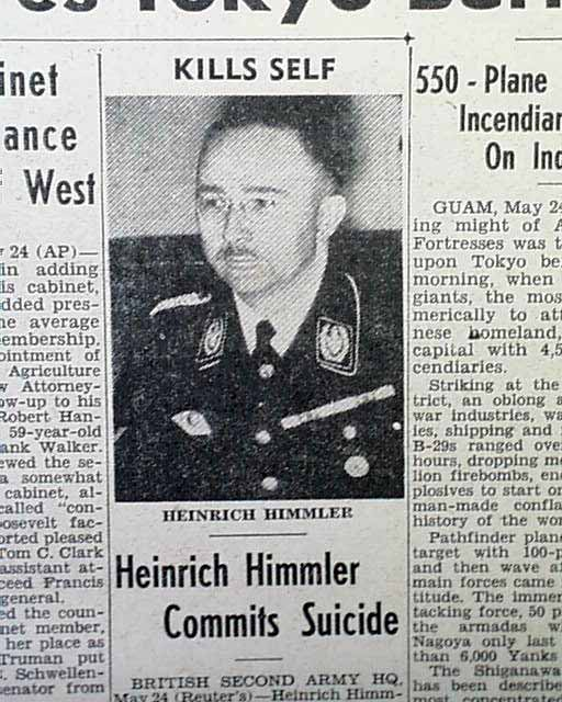 Image result for nazi heinrich himmler commits suicide