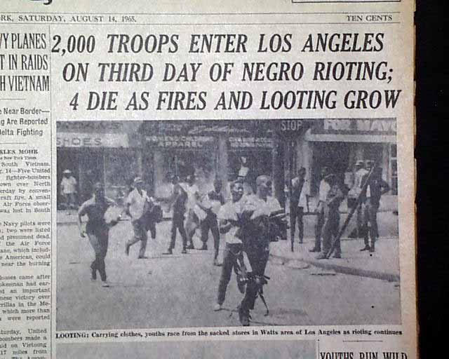 Term paper on the watts riots