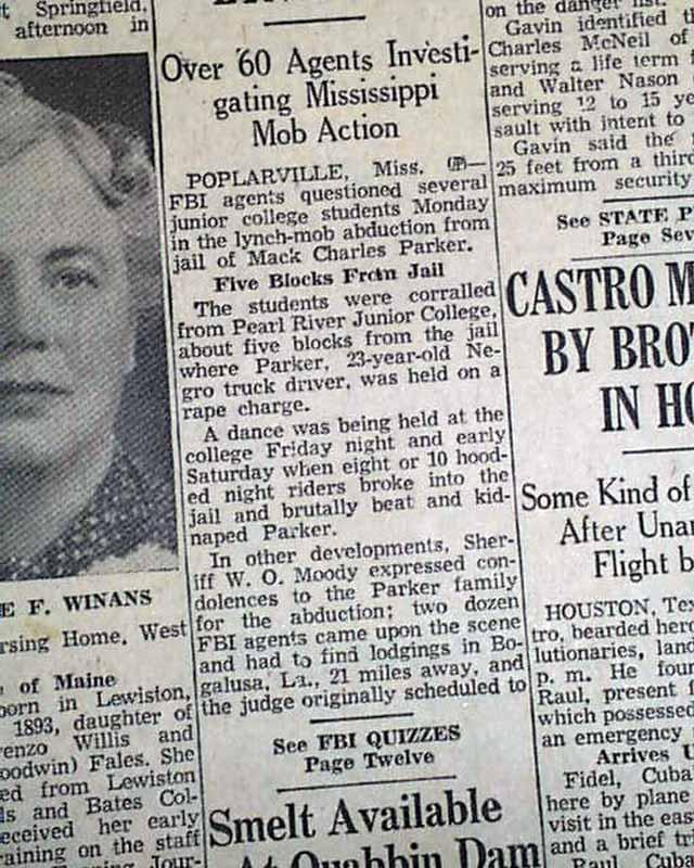 poplarville ms lynching rarenewspaperscom