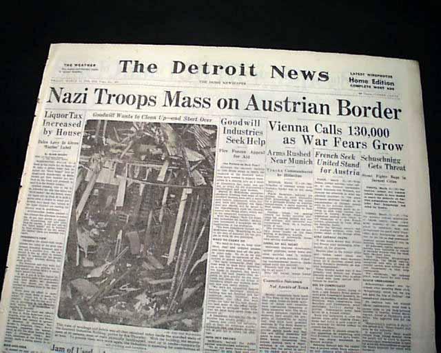 Image result for hitler takes austria in 1938