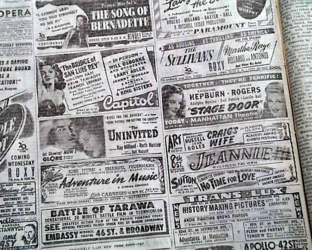 movie casablanca wins best picture rarenewspaperscom