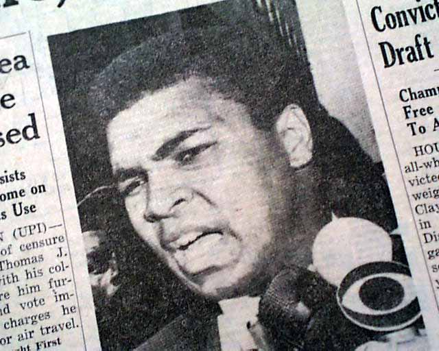 Image result for muhammad ali found guilty of draft dodging