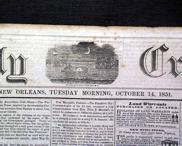 a picture of the pre civil war new orleans Picture information image not available x have one to sell sell now - have one to sell  tough civil war new orleans issue click thumbnails to enlarge.