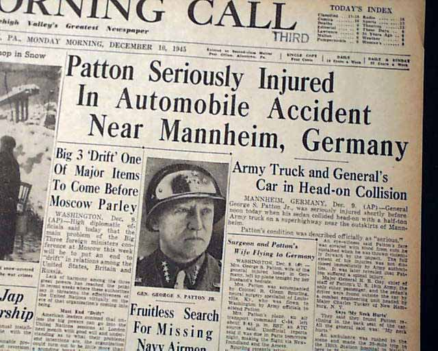 Location Of George Patton Car Crash