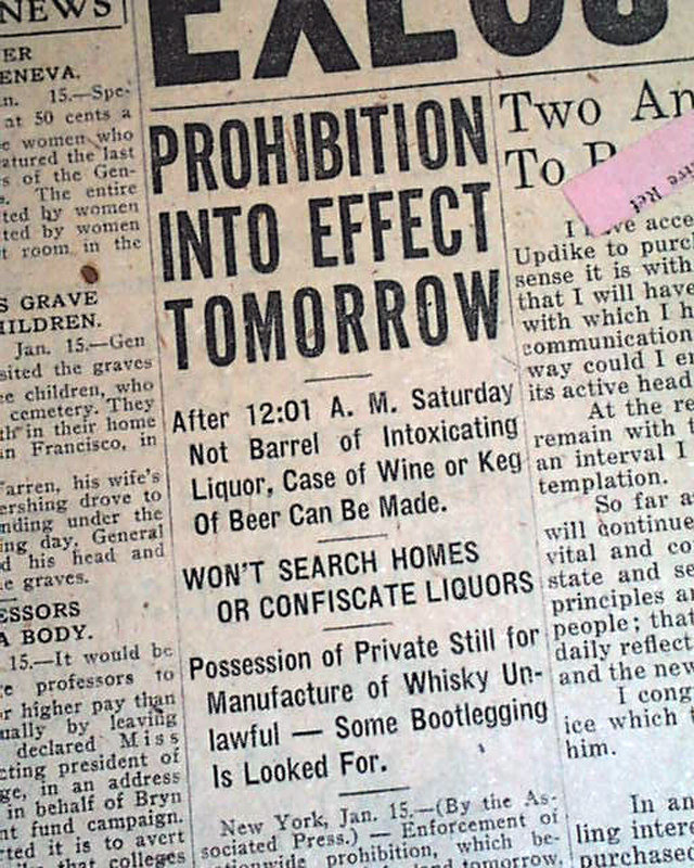 term papers on prohibition