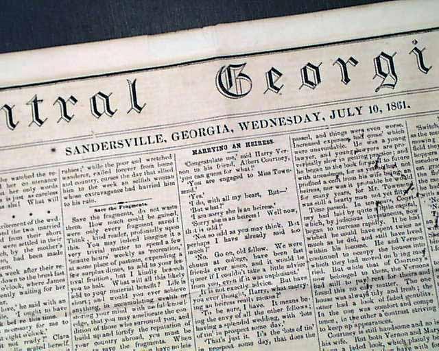 Very rare Confederate title from Georgia ...