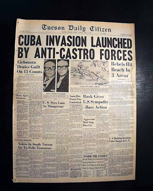 bay of pigs the failed invasion of cuba 2018/04/17 the bay of pigs aborted invasion in 1961 was a disaster for the kennedy administration and when russian submarines were spotted approaching cuba, known as the cuban missile crisis in 1962, the world held its breath.