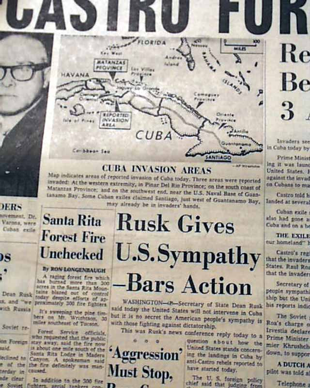 a history of the failed invasion of cuba Cuban exiles invaded cuba with us government backing in a failed effort to  john f kennedy presidential library and museum: jfk in history: the bay of.