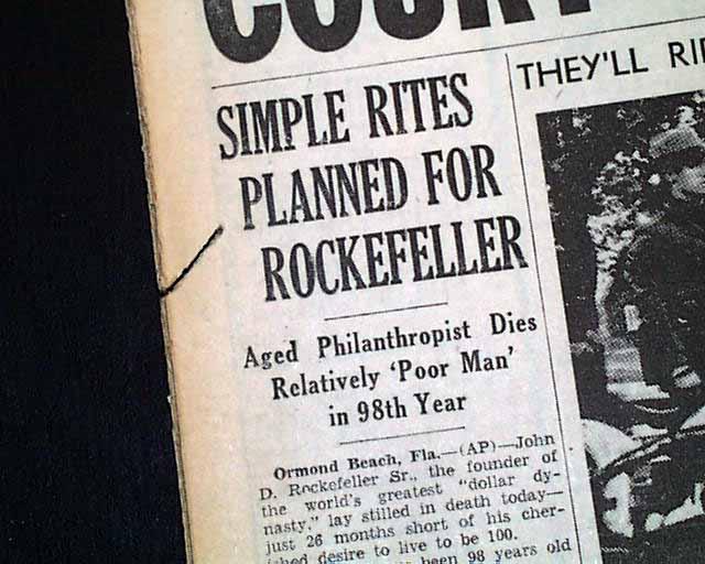 john d. rockefeller term papers