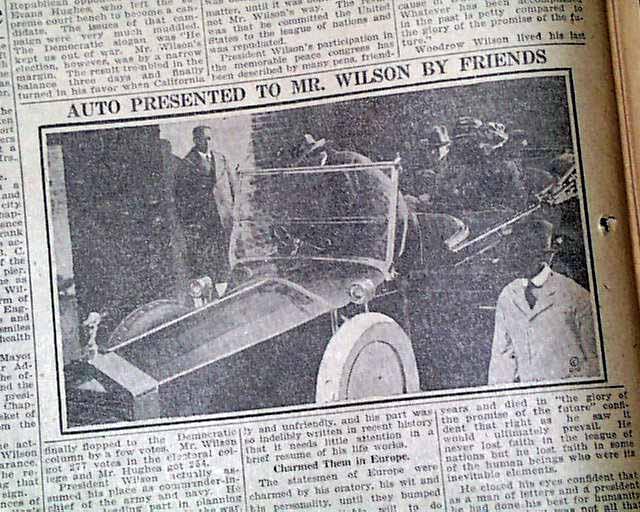 President Woodrow Wilson's Death...