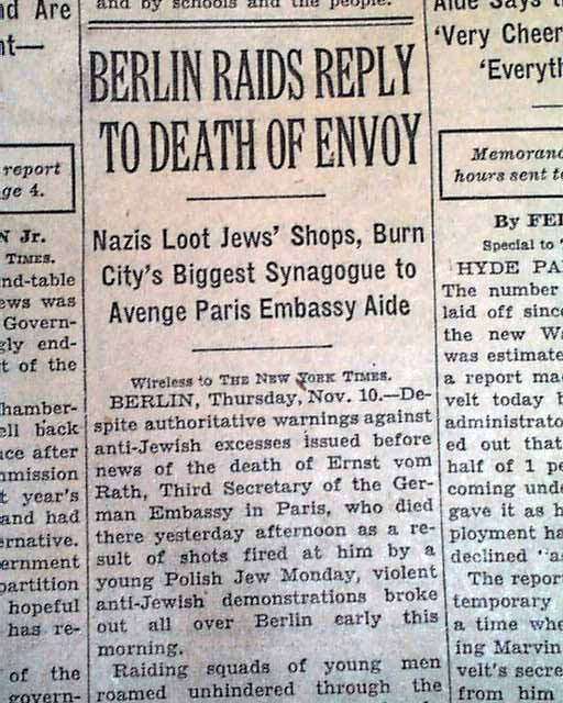 kristallnacht essay Getting papers rabbi eliyahu ellis of aish jerusalem relates: it is hard for us to imagine the scope of destruction on kristallnacht.