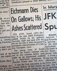 Image result for nazi  adolf eichmann hung