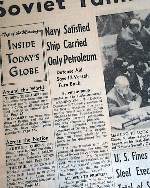 the cuban missile crisis and the blockade essay When the cuban missile crisis erupted 50 years ago this the kennedy white house imposed a naval and air blockade on cuba first-person essays.