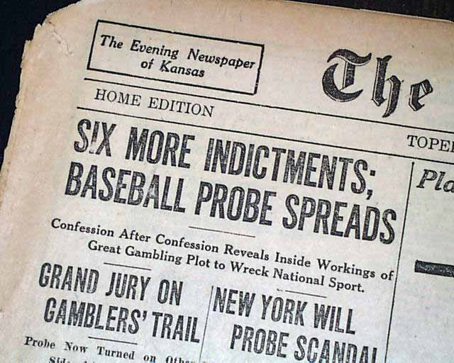 1919 black sox scandal Find great deals on ebay for 1919 black sox and shoeless joe jackson shop with confidence.