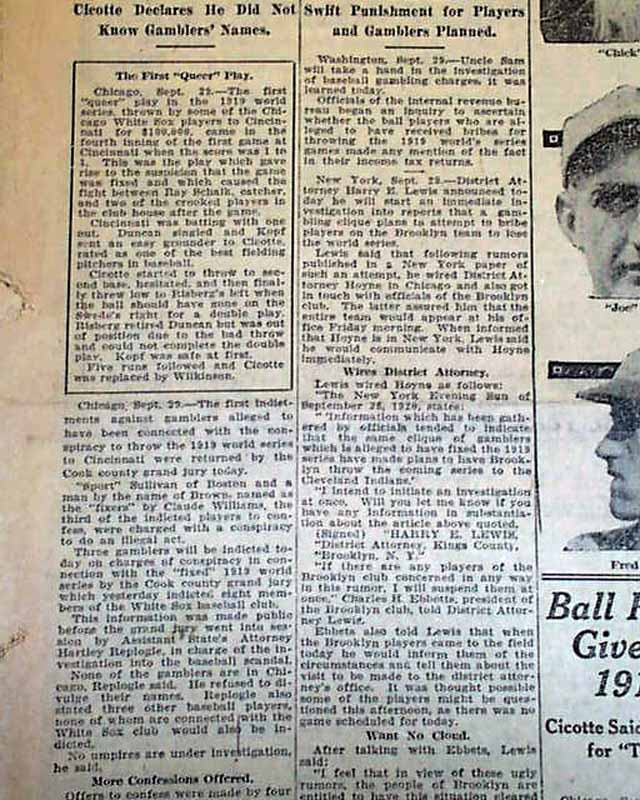 Informative speehc black sox scandal