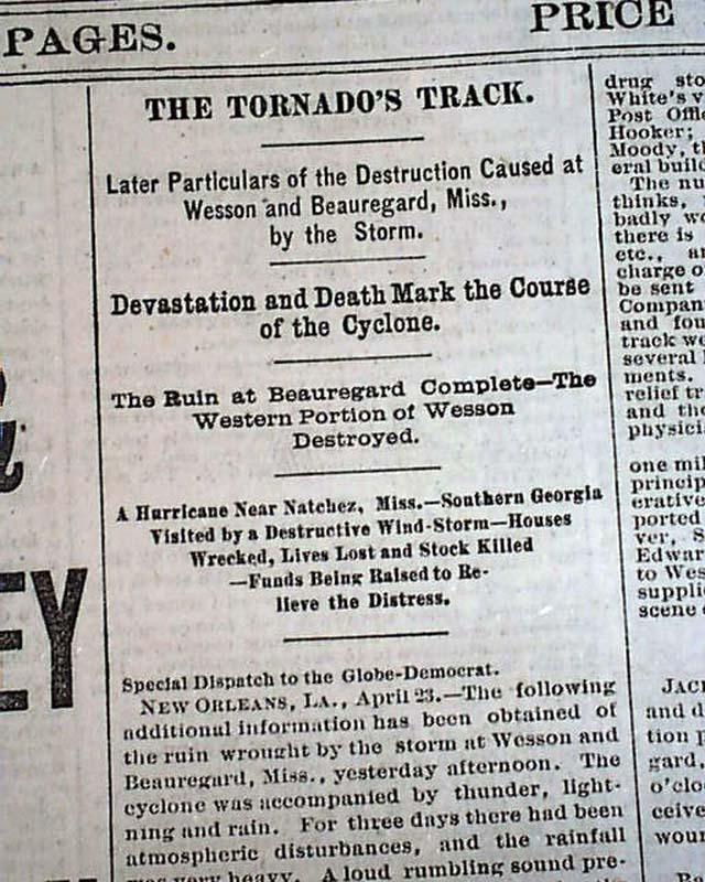 beauregard amp wesson mississippi tornado