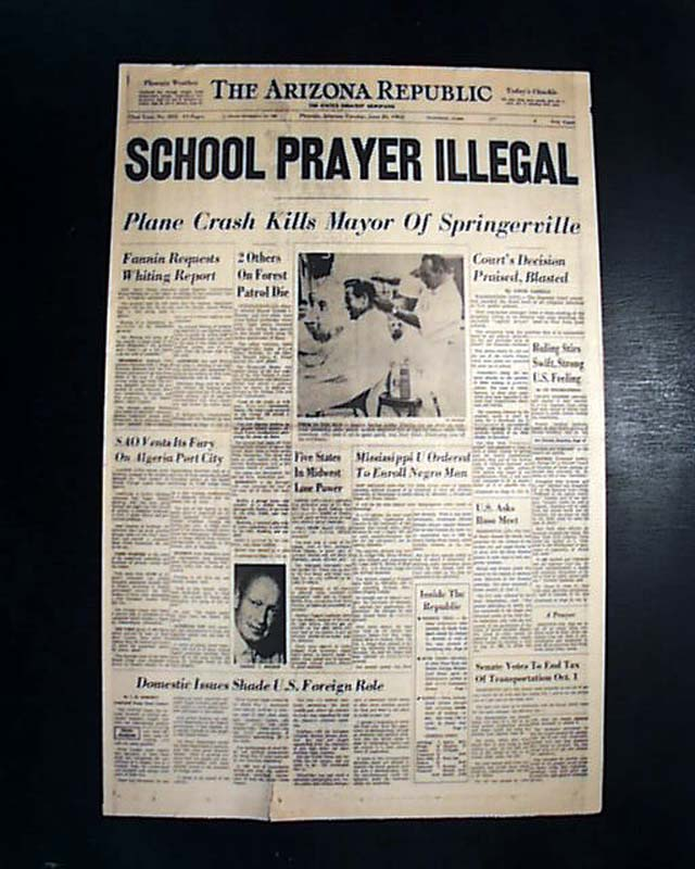 the effects of the supreme courts decision about school prayers in america The day america spurned god but as that ruling was less a decision about school-sanctioned prayer than it was a decision about the was that supreme court.