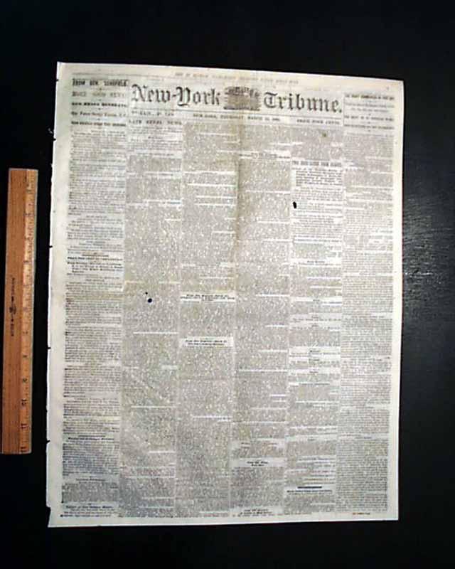 BATTLE OF WYSE FORK Kinston NC North Carolina 1865 Civil War Newspaper