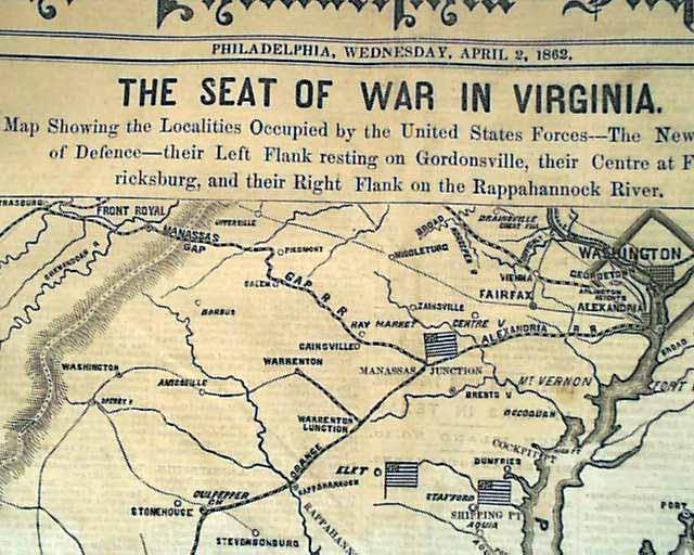 Civil War map of Virginia...