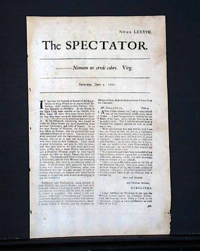 addison and steele A look at the satirist joseph addison's the spectator and what it highlights about our society from this analysis, we can conclude that it is everyone's.