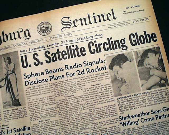 1st Satellite put into space in 1958... - RareNewspapers.com