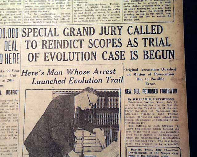 monkey scopes trial essay Scopes trial essay the twentieth century scopes trial may have started out as a simple debate between evolutionists and creationists, but quickly escalated.