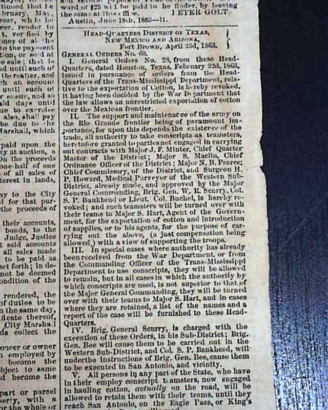 Confederate newspaper from Austin, Texas ...