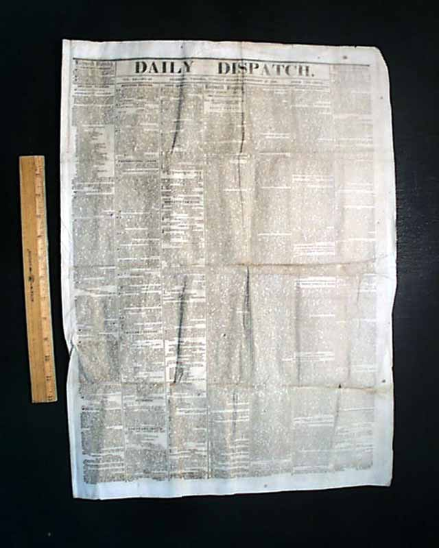 Willie Lincoln DIE 1862 Civil War Newspaper Jeff Davis Proclamation