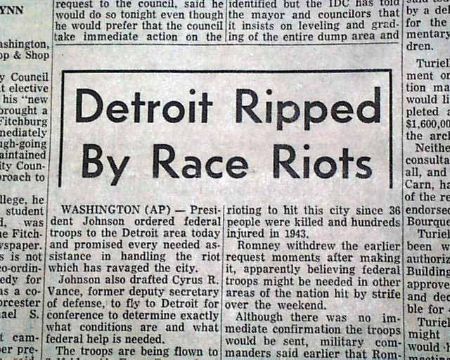 an introduction to the issue of detroit riots What were the detroit riots john boyega's new movie shifts the spotlight to an issue that's still relevant.