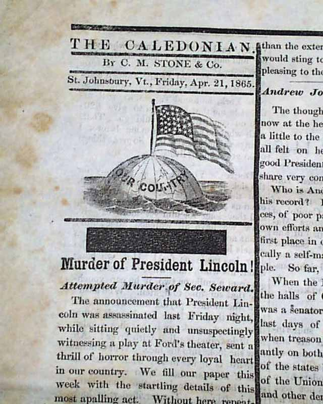 a report on the assassination of abraham lincoln Report published a year after the assassination of abraham lincoln,  report  from the washington correspondent at the nashville republican banner,.
