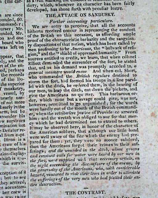 a report on the war of 1812 The war of 1812, which broke out two centuries ago this month, was a watershed  moment in maine's history the british occupation and.