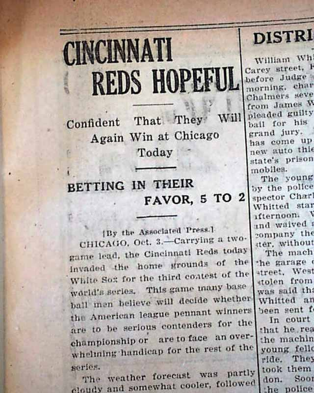 1919 black sox scandal essay