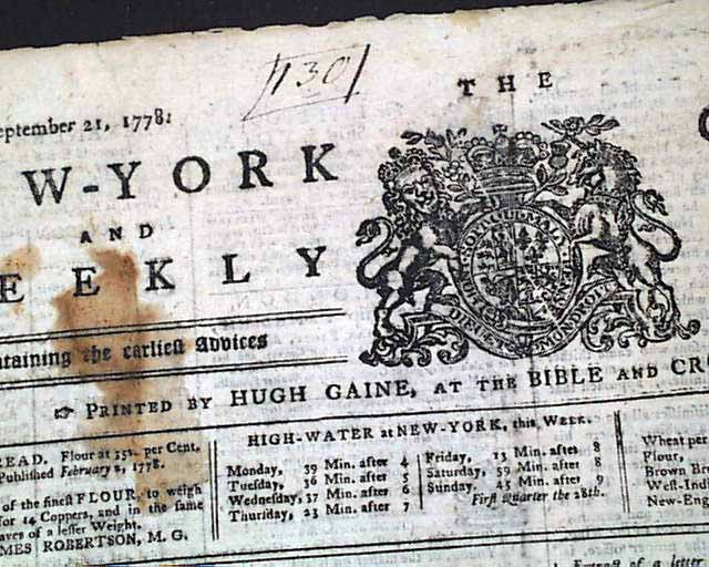 A tory newspaper from the revolutionary war for Revolutionary war newspaper template
