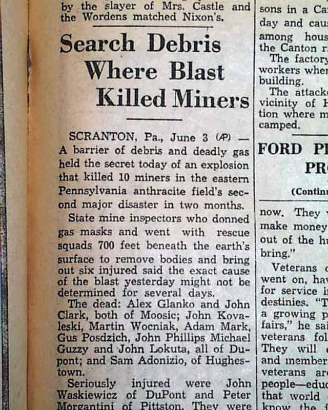 Tennessee Bill Of Sale >> 1938 Avoca, Pennsylvania coal mine disaster... - RareNewspapers.com