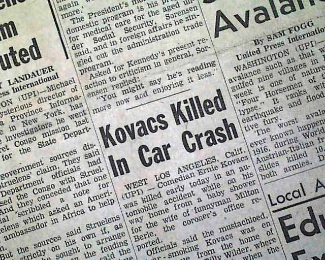Ernie Kovacs Death Photos http://www.rarenewspapers.com/view/574835