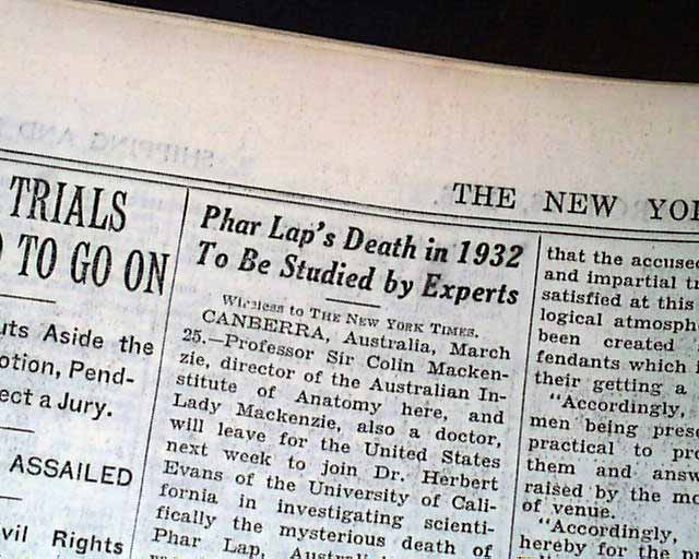 death about phar clapboard article