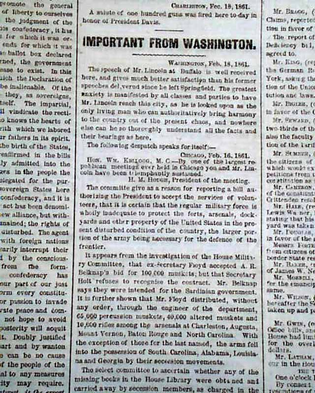 comparing davis and lincolns innagural address Jefferson davis' inaugural address: summary & analysis  president lincoln's first inaugural address focused on reassuring the southern states that the president would not try to strip them of .
