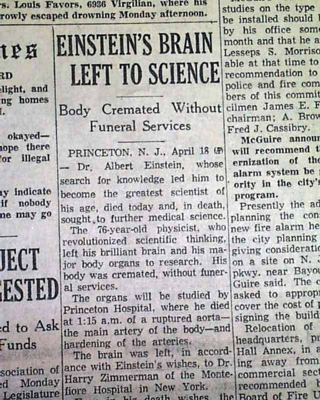 Image result for the death of albert einstein