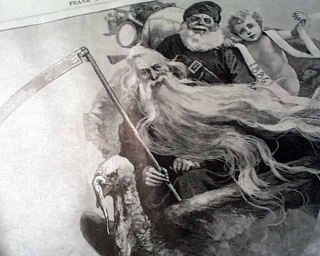 Santa and Father Time