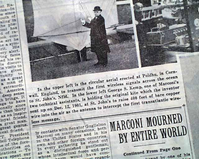 Guglielmo Marconi - short biography of his life