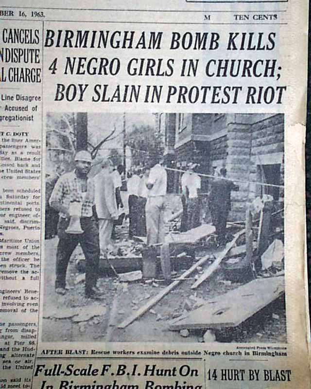 The birmingham church bombing