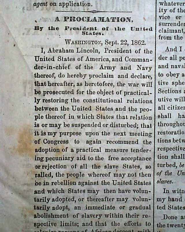 emancipation proclamation thesis Emancipation proclamation is usually a sizeable paper from the background it demonstrates the operation of continuing growth of the united states this is basically the growth of their.